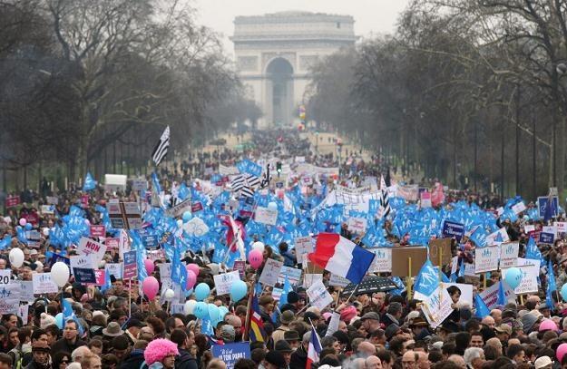 Manifestacja w Paryżu /AFP/Agencja FORUM