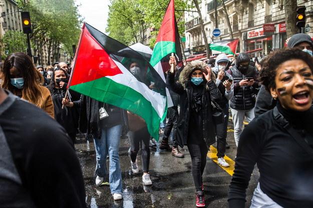 Manifestacja w Paryżu /Christophe Petit-Tesson /PAP/EPA