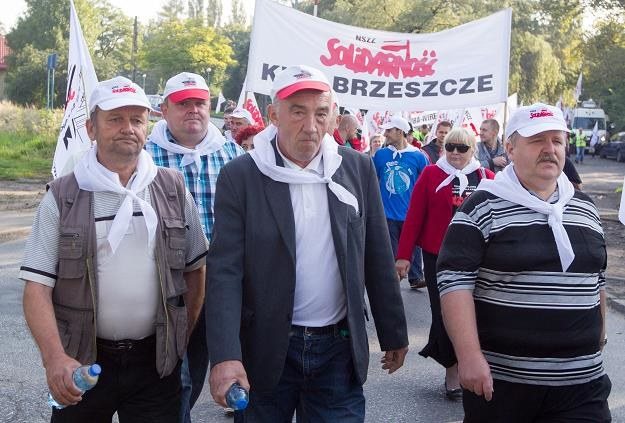 Manifestacja w sosnowieckiej kopalni Kazimierz-Juliusz /PAP