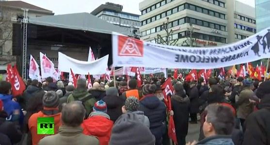 Manifestacja w Stuttgarcie /źródło: Twitter RT /