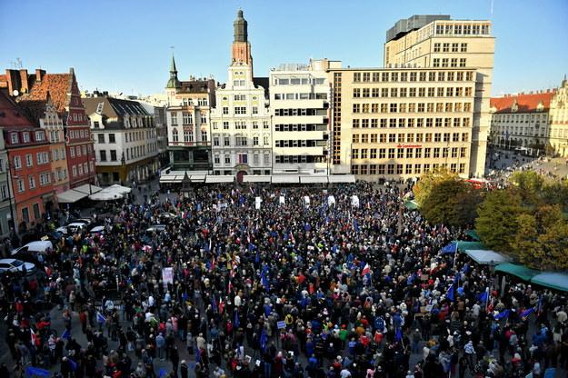 Manifestacja we Wrocławiu / Maciej Kulczyński    /PAP