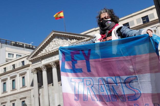 Manifestacja zwolenników ustawy /MARISCAL /PAP/EPA