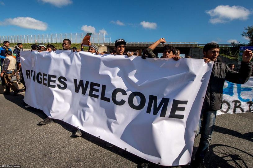 Manifestację zorganizowano na apel wielu miejscowych organizacji, w tym katolickiej Secours Catholique/ Calais, 19 września 2015 /AFP /East News