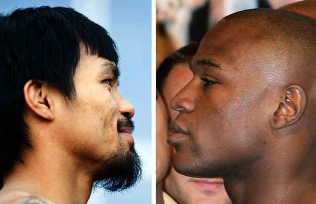 Manny Pacquiao i Floyd Mayweather Jrunior /AFP