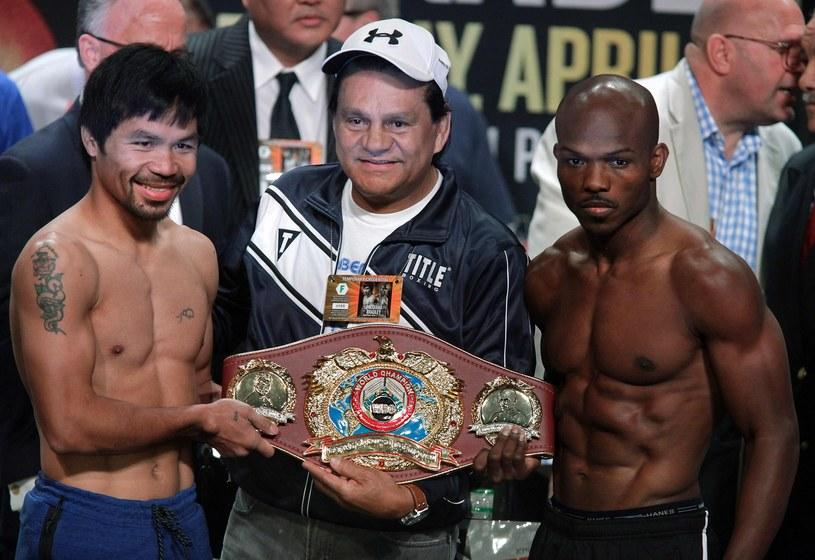 Manny Pacquiao, Roberto Duran i Timothy Bradley jr /AFP
