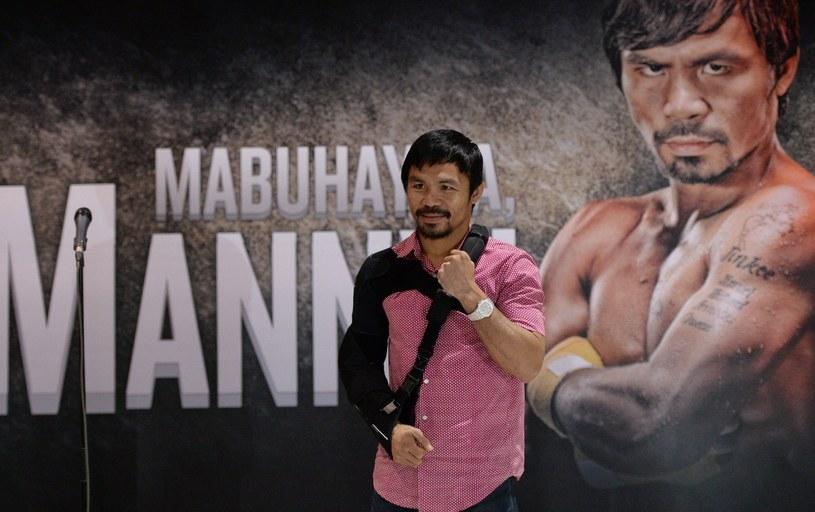 Manny Pacquiao wrócił już do ojczyzny /AFP