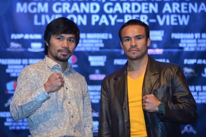 Manny Pacquiao (z lewej) i Juan Manuel Marquez zmierzą się po raz czwarty /AFP