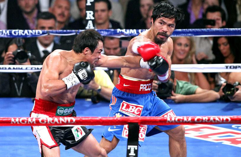 Manny Pacquiao (z prawej) i Juan Manuel Marquez /AFP