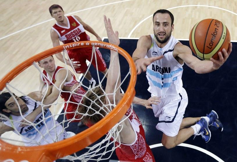 Manu Ginobili (z piłką) /AFP