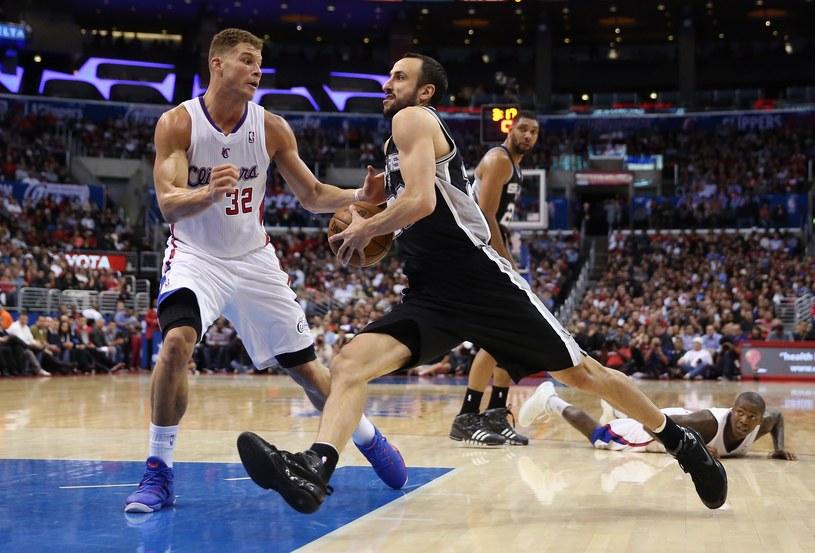 Manu Ginobili z San Antonio Spurs i Blake Griffin z Los Angeles Clippers /AFP