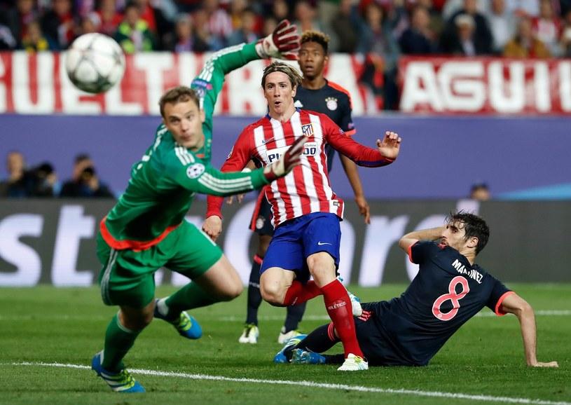 Manuel Neuer (z lewej) w meczu z Atletico Madryt /PAP/EPA