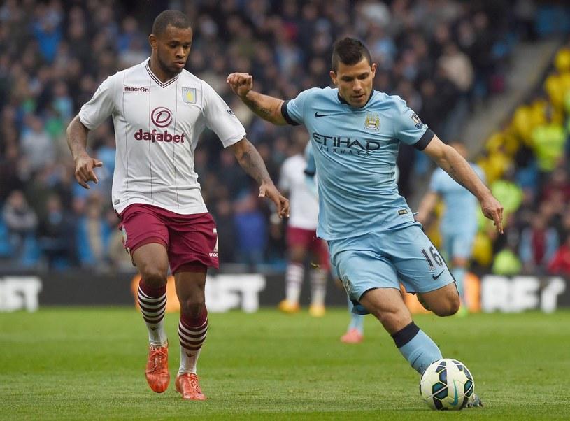 Manuel Pellegrini wierzy w Sergio Aguero (na zdjęciu w błękitnej koszulce) /AFP