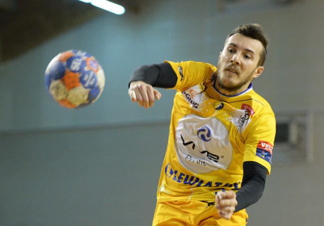 Manuel Sztrlek z Vive Tauronu Kielce /Piotr Polak /PAP