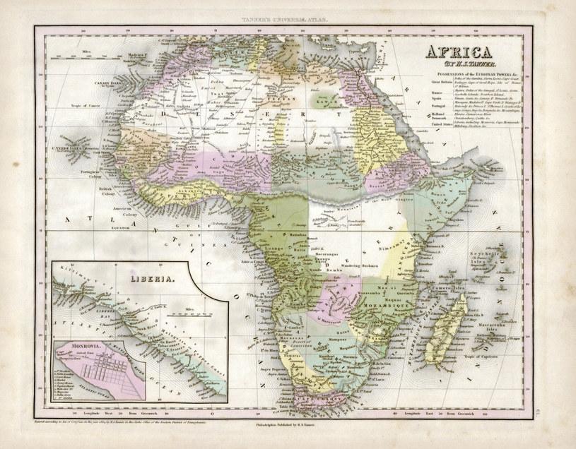 Mapa Afryki z końca XIX w. /LIBRARY OF CONGRESS/SCIENCE PHOTO LIBRARY /East News