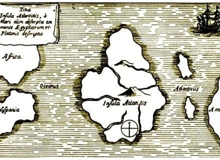 Mapa Atlantydy z XVII w. /MWMedia