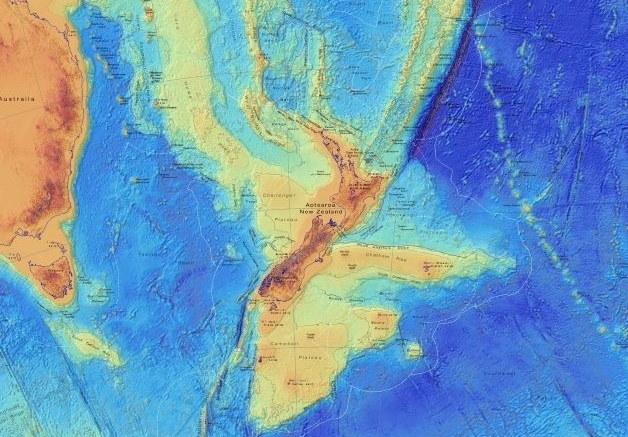 Mapa batymetryczna Zelandii /materiały prasowe