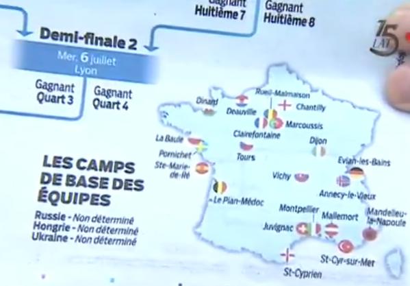 Mapa baz na Euro 2016 /INTERIA.PL