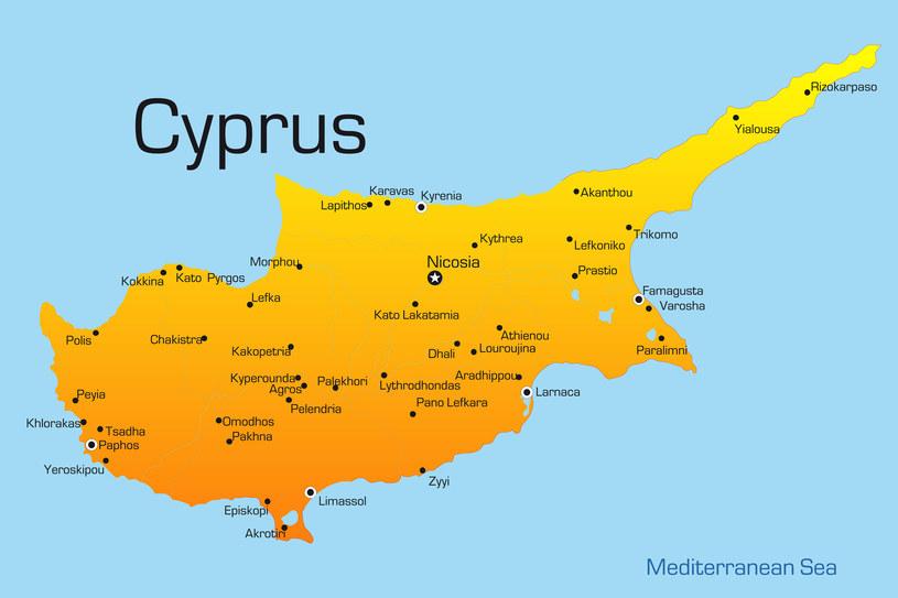 Mapa Cypru /123RF/PICSEL