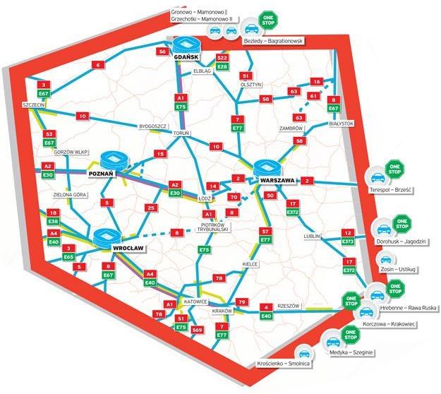 Mapa dróg na Euro 2012 /