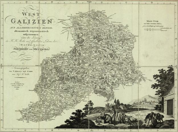 Mapa Galicji z XIX wieku /Polona /domena publiczna
