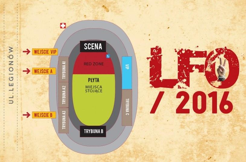 Mapa Life Festival Oświęcim /materiały promocyjne
