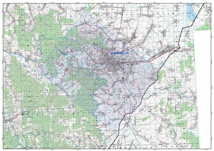 Mapa lokalizacyjna zdjęcia sejsmicznego Przemyśl 3D /materiały promocyjne