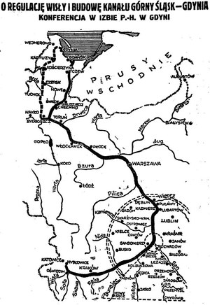 Mapa planowanych inwestycji dla transportu śródlądowego /Archiwum Tomasza Basarabowicza