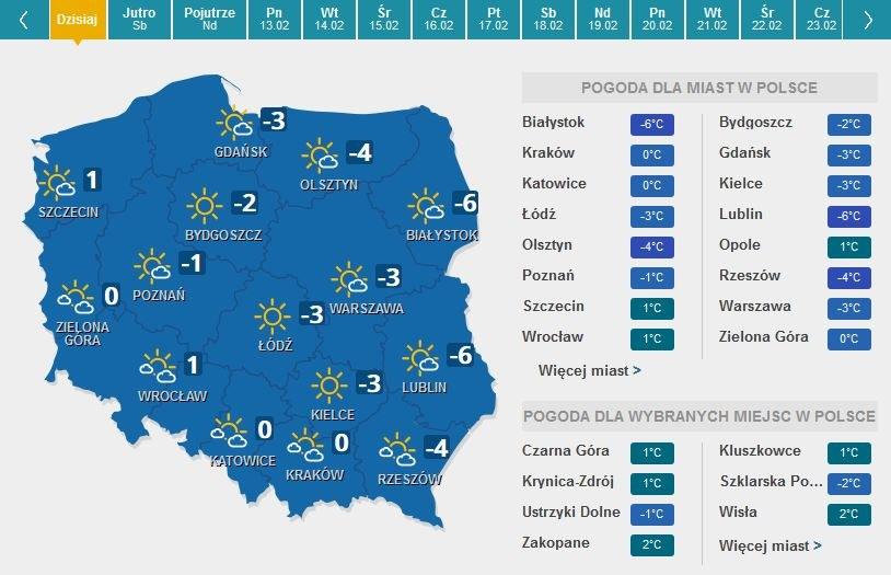 Prognoza pogody: Mroźny weekend