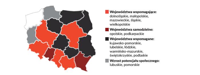 Mapa potencjału społecznego /Szlachetna Paczka /