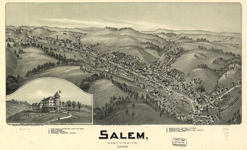Mapa Salem w Zachodniej Wirginii sprzed ponad 100 lat /Wikipedia Commons /domena publiczna