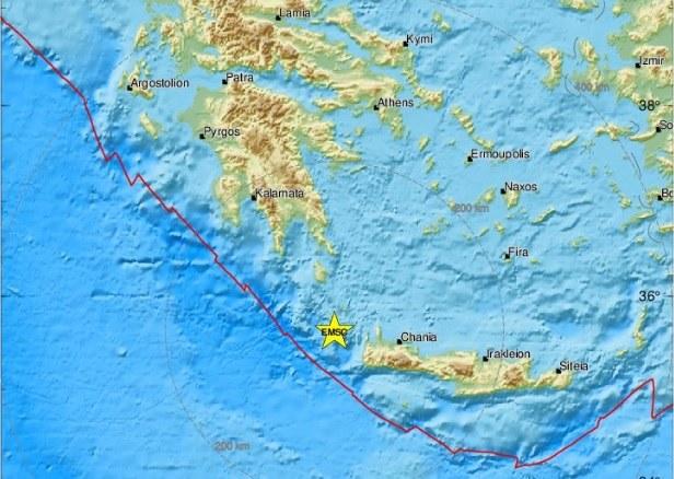Mapa stworzona przez Europejsko-Śródziemnomorskie Centrum Sejsmologiczne /https://www.emsc-csem.org/ /