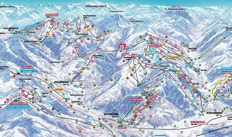 Mapa tras /fot. www.bergfex.pl /