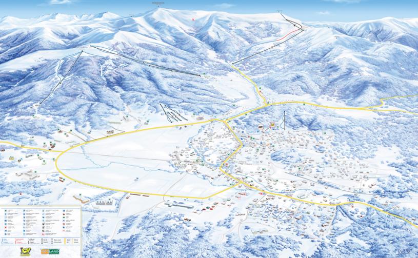 Mapa tras narciarskich w Bakuriani /bakuriani.ge /