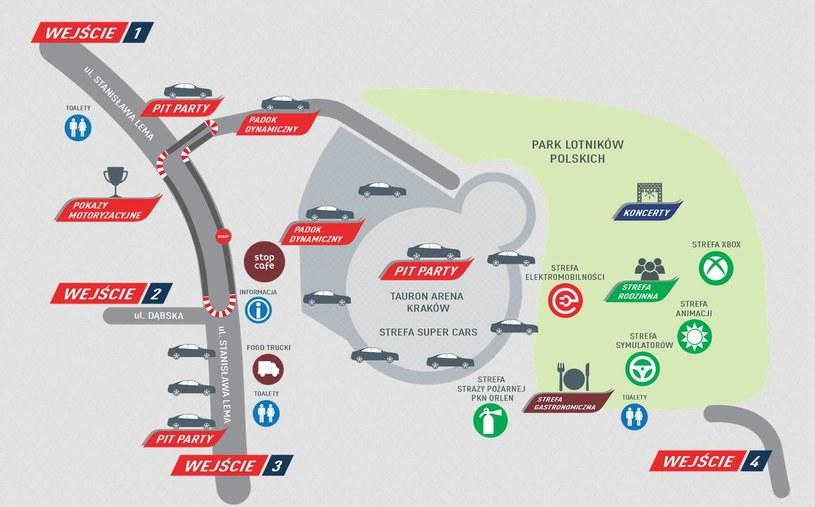 Mapa VERVA Street Racing w Krakowie /materiały prasowe /materiały prasowe
