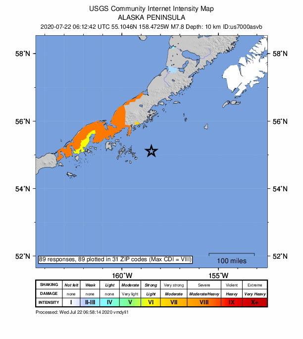 Mapa wstrząsów udostępniona przez USGS /USGS / HANDOUT /PAP/EPA