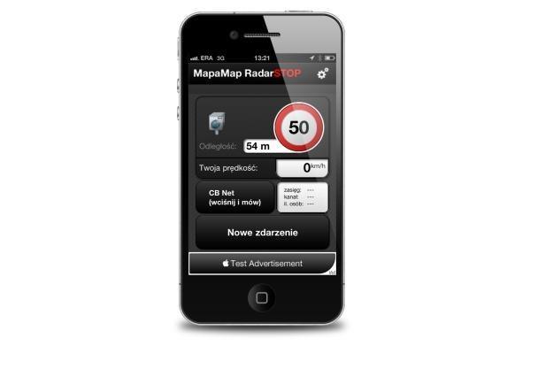 MapaMap RadarSTOP w iPhonie /materiały prasowe