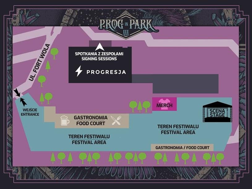 Mapka festiwalu Prog in Park 2019 /materiały prasowe