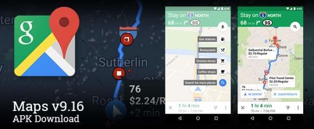Mapy Google - wersja 9.16 /materiały prasowe