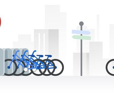 Mapy Google z lokalizacją miejskich rowerów