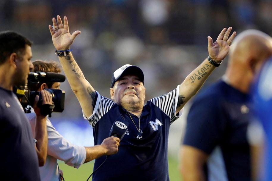 Maradona w lutym 2020 roku /Demian Alday Estevez /PAP/EPA