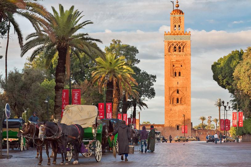 Marakesz - czwarte co do wielkości i bodaj najpiękniejsze miasto Maroka. Urzeka swą egzotyką na każdym kroku: specyficznym zapachem, odmiennością strojów tubylców, kolorami sprzedawanych na targu produktów /123RF/PICSEL