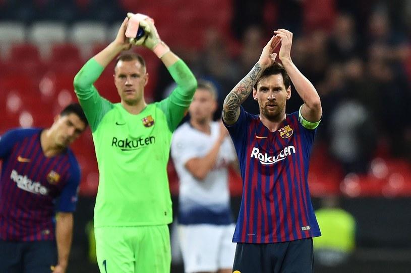 Marc-Andre ter Stegen i Lionel Messi /GLYN KIRK /AFP