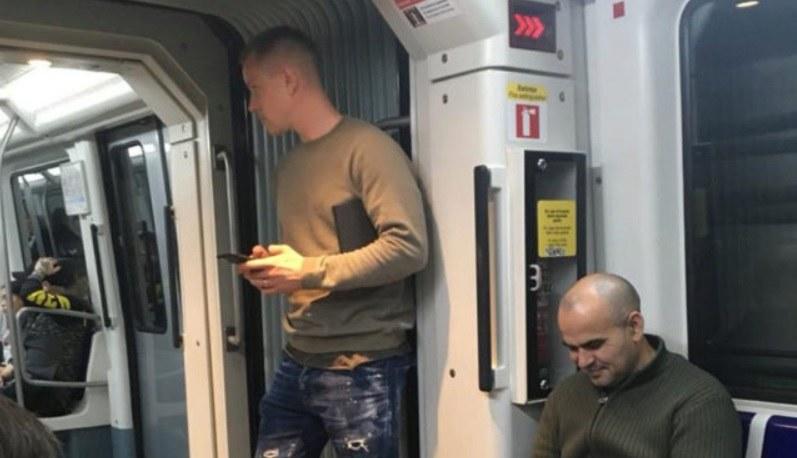 Marc-Andre ter Stegen (z lewej) w metrze /