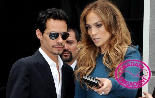 Marc Anthony i Jennifer Lopez /Jason Merrit /Getty Images