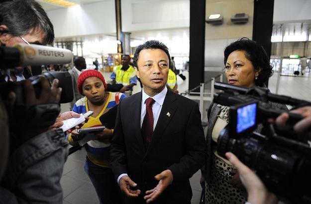 Marc Ravalomanana na lotnisku w Johannesburgu /AFP
