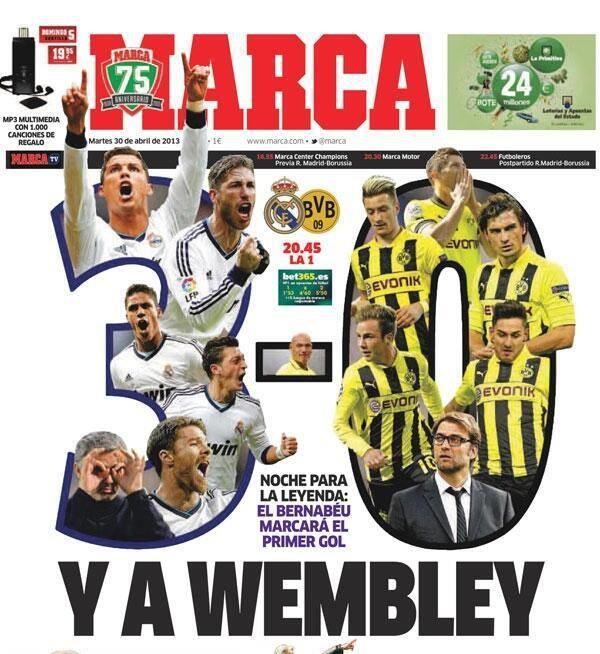 """""""Marca"""" nie ma wątpliwości, że Real dziś wygra 3-0. /INTERIA.PL"""