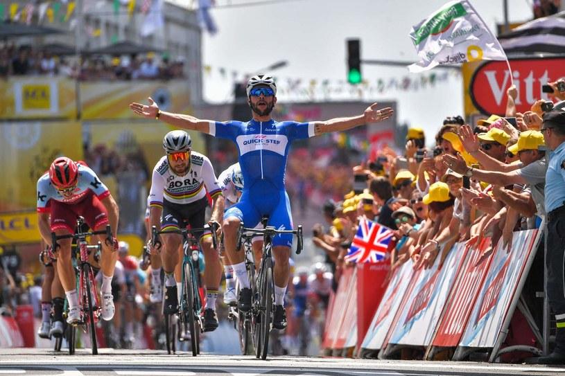 Marcel Kittel stanął w tym roku na podium etapu kończącego się w Fontenay-le Comte, choć za Kolumbijczykiem Gavirią i Słowakiem Saganem /AFP