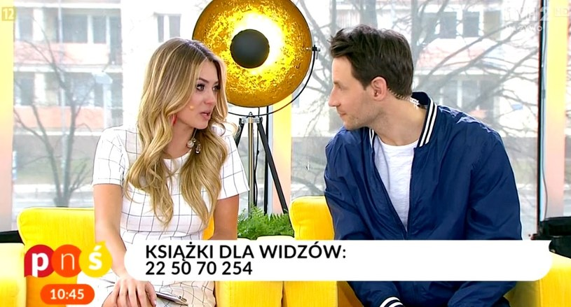 """Marcelina Zawadzka i Tomasz Wolny w """"Pytanie na śniadanie"""" /TVP / Pytanie na śniadanie /materiał zewnętrzny"""