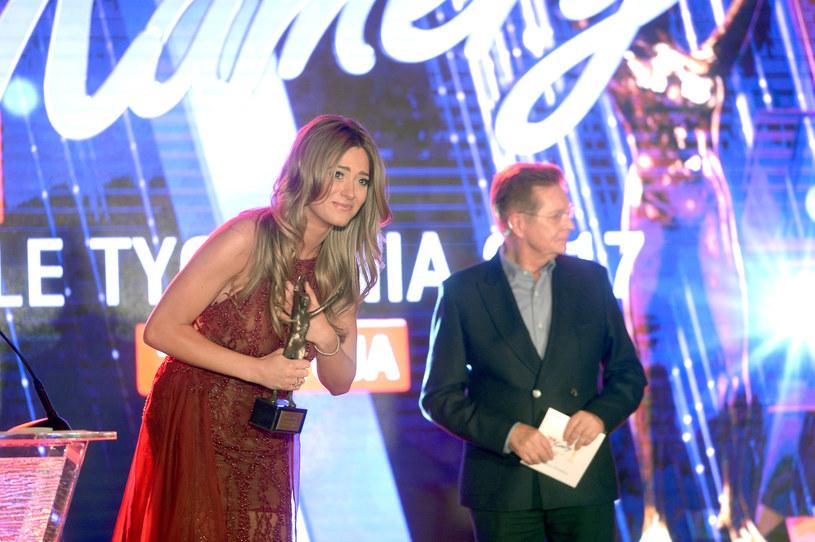 Marcelina Zawadzka odbiera Telekamerę 2017 /AKPA