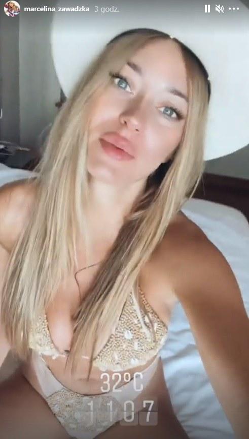 Marcelina Zawadzka pochwaliła się swoją podróżą na InstaStories (screen) /@marcelina_zawadzka /Instagram